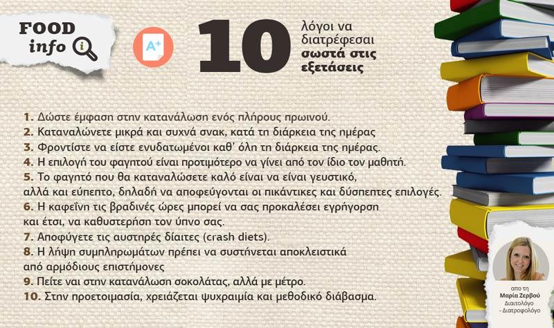 10 Logoi Na Diatrefesai Sosta Stis Eksetaseis 1
