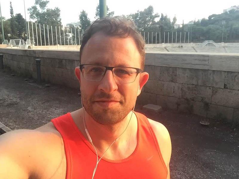 Running Panathinako Stadio